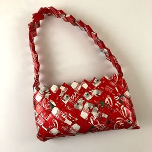 ECOIST CocaCola Woven Wrappers Zippered Coin Purse